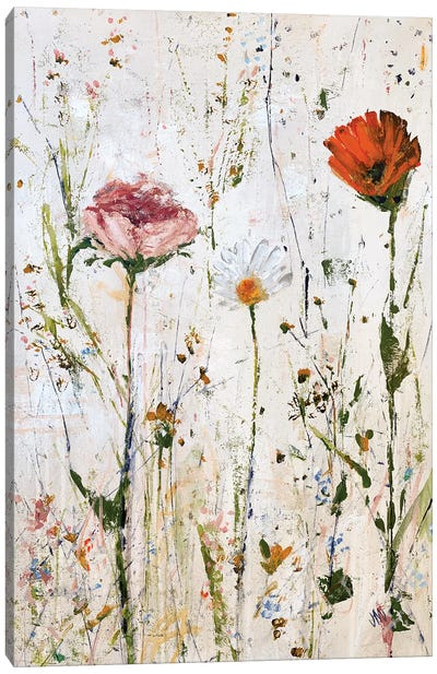 Three Flowers Canvas Art Print