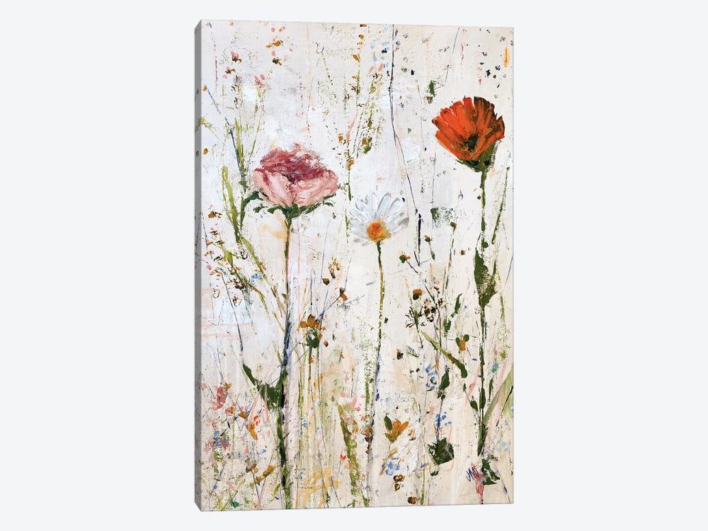 Three Flowers by Jodi Maas 1-piece Canvas Wall Art