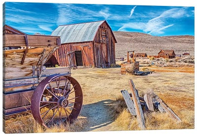 USA, Bodie, California. Mining town, Bodie California State Park II Canvas Art Print
