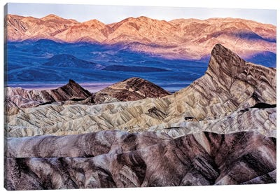 USA, California. Death Valley National Park, Zabriskie Point Canvas Art Print