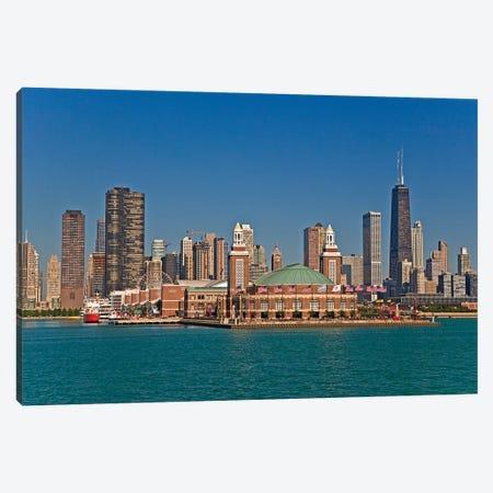 Navy Pier And Downtown Skyline, Chicago, Cook County, Illinois, USA Canvas Print #JOE2} by Joe Restuccia III Canvas Art Print