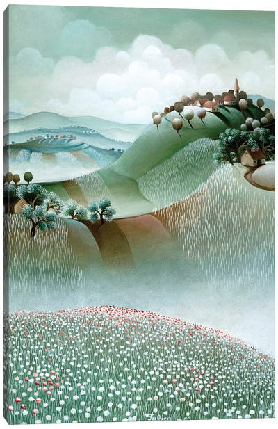 On Top Of A Hill Canvas Art Print
