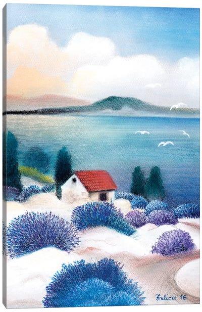 Sea And Lavander Canvas Art Print