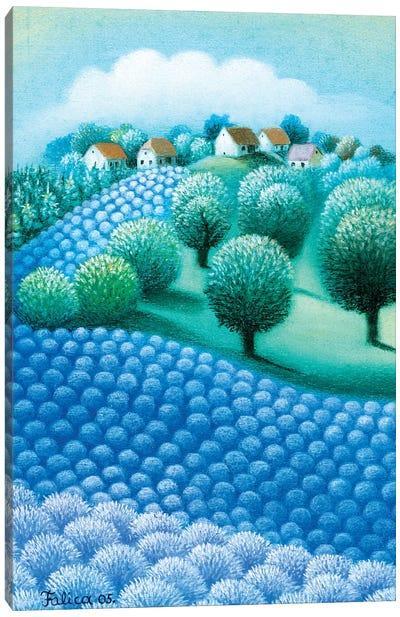 Blue Fragrance Canvas Art Print