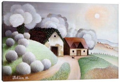 Cold Morning Canvas Art Print