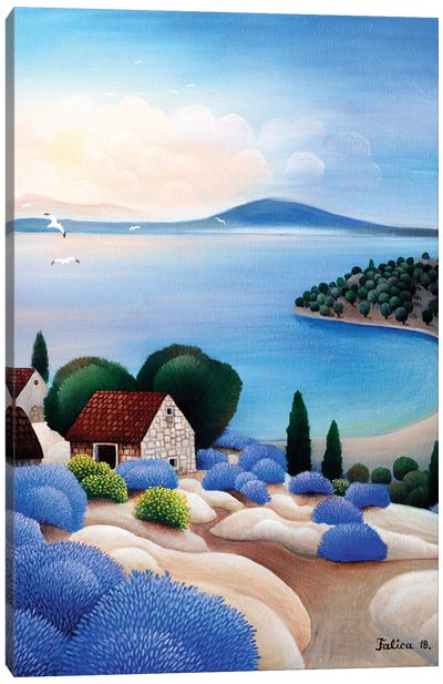 Houses Over The Sea Canvas Art Print