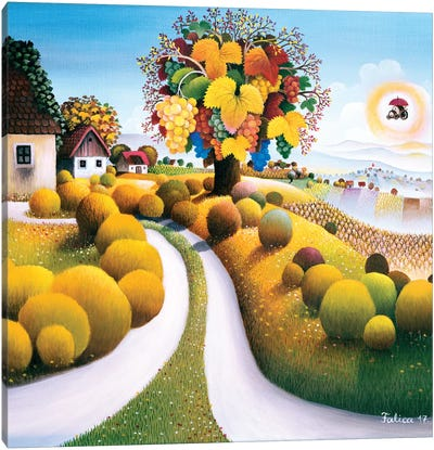 Lavish Autumn Canvas Art Print