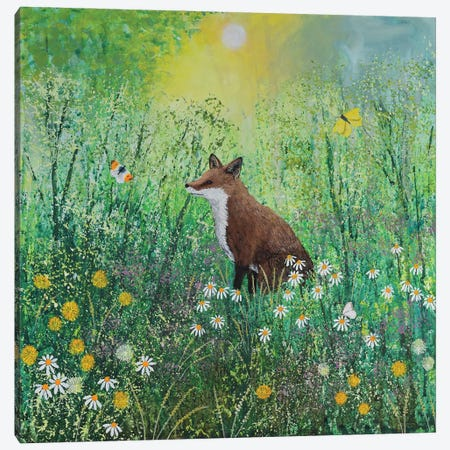 Sitting In The Morning Sun Canvas Print #JOG100} by Jo Grundy Canvas Wall Art