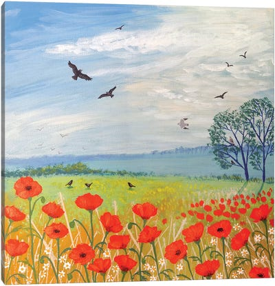 Poppy Breeze Canvas Print #JOG10
