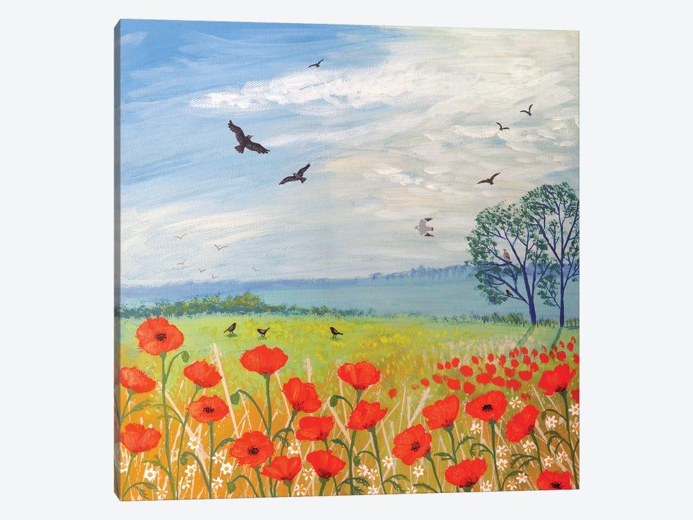 Poppy Breeze by Jo Grundy 1-piece Canvas Wall Art