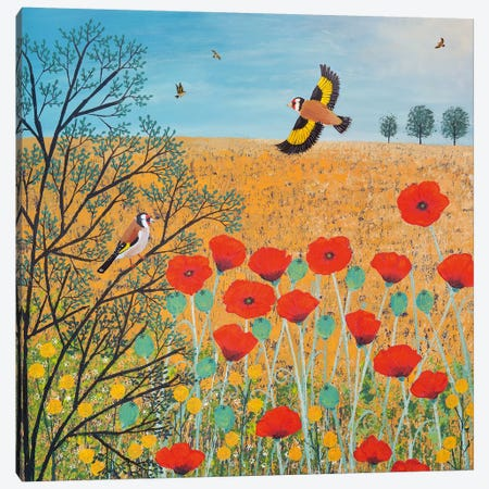Red And Gold Canvas Print #JOG11} by Jo Grundy Canvas Art