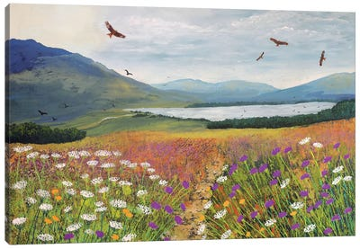 Red Kites Over Loch Tulla Canvas Art Print
