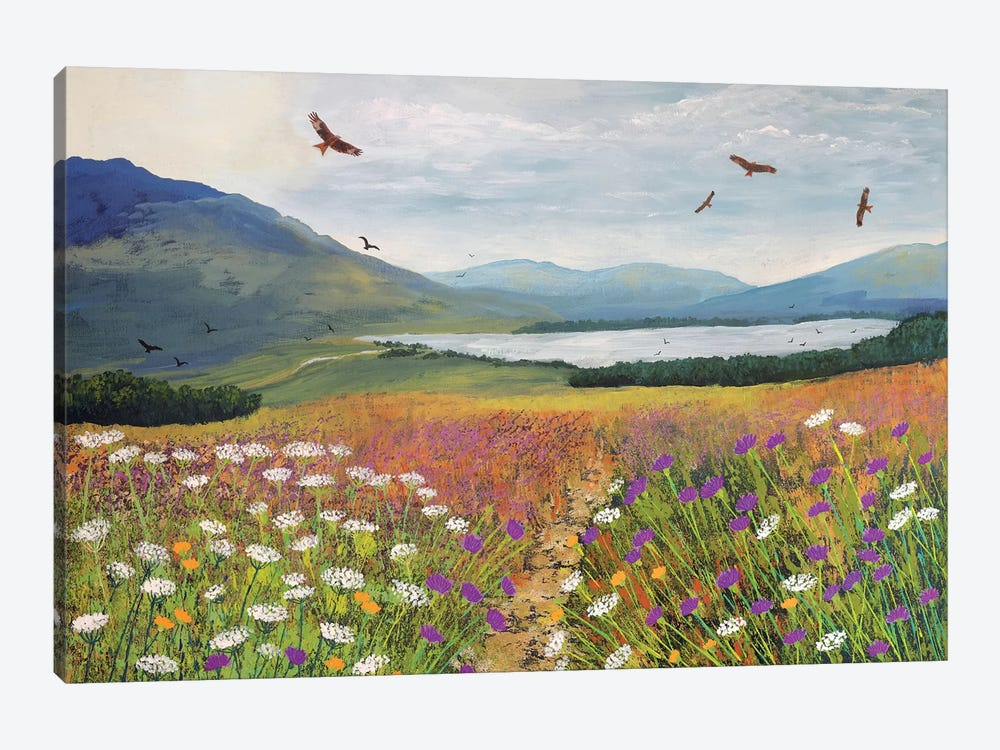 Red Kites Over Loch Tulla by Jo Grundy 1-piece Canvas Art