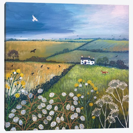 September Fields Canvas Print #JOG13} by Jo Grundy Canvas Wall Art