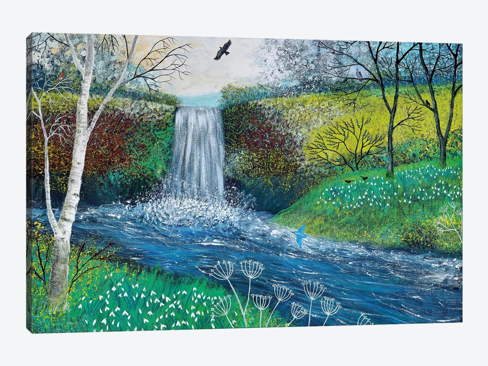 Snowdrop Falls by Jo Grundy 1-piece Canvas Art