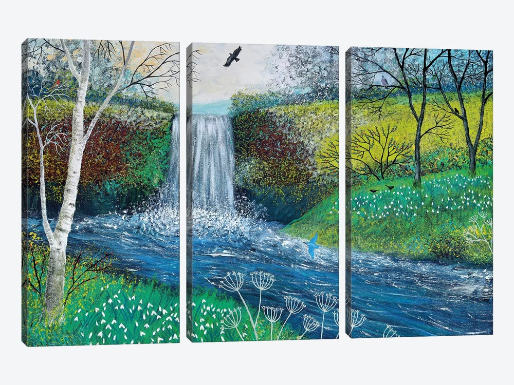 Snowdrop Falls by Jo Grundy 3-piece Canvas Artwork