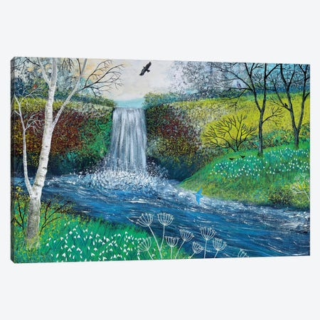 Snowdrop Falls Canvas Print #JOG14} by Jo Grundy Canvas Print