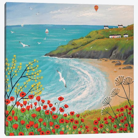 The Path To Poppy Bay Canvas Print #JOG16} by Jo Grundy Canvas Art Print