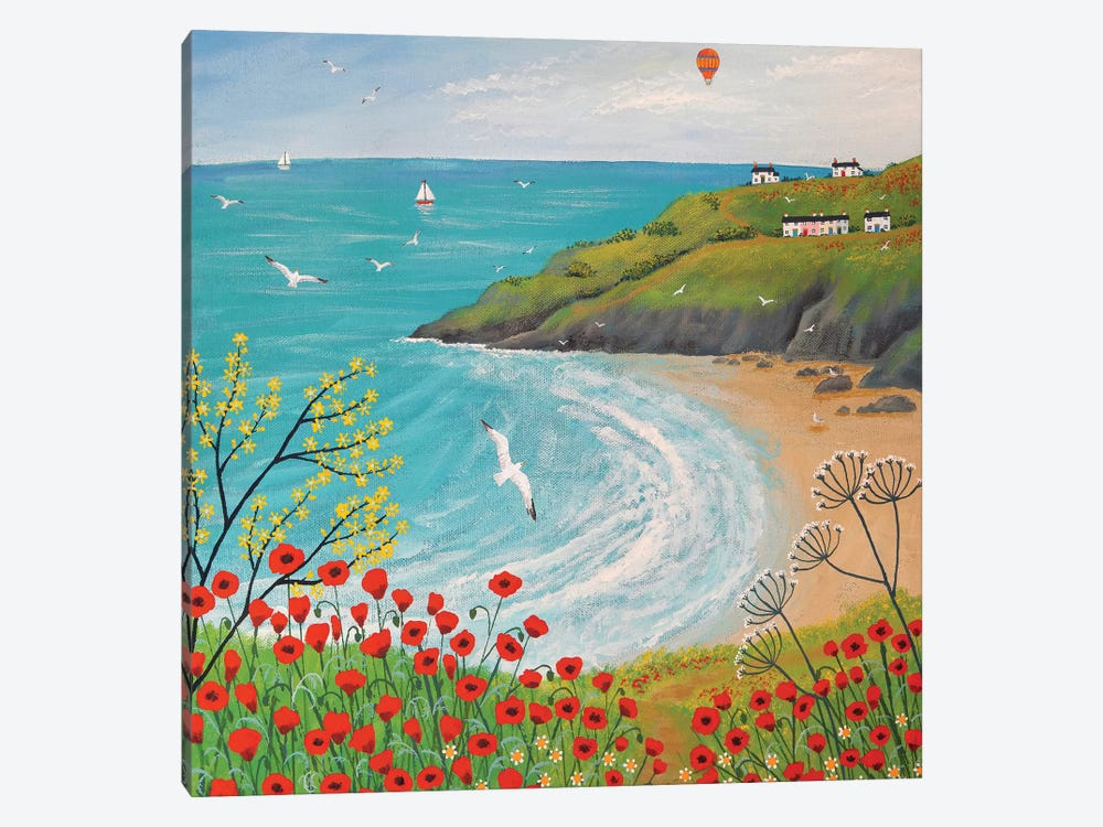 The Path To Poppy Bay by Jo Grundy 1-piece Canvas Wall Art