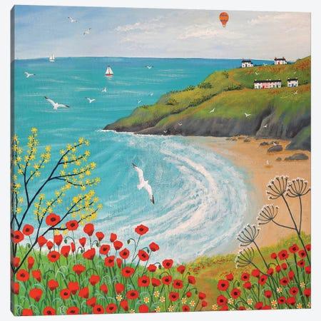 The Path To Poppy Bay Canvas Print #JOG16} by Jo Grundy Canvas Art Print