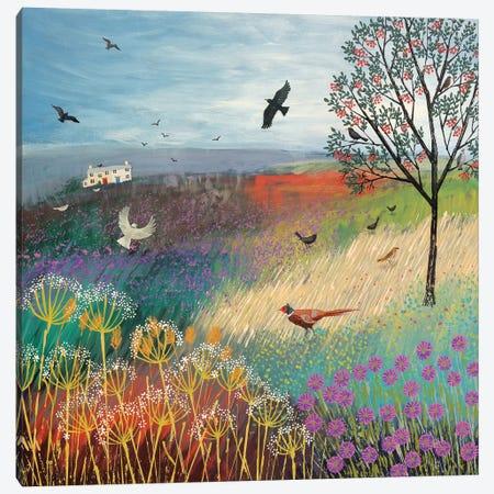 The Rowan Tree 3-Piece Canvas #JOG17} by Jo Grundy Canvas Print