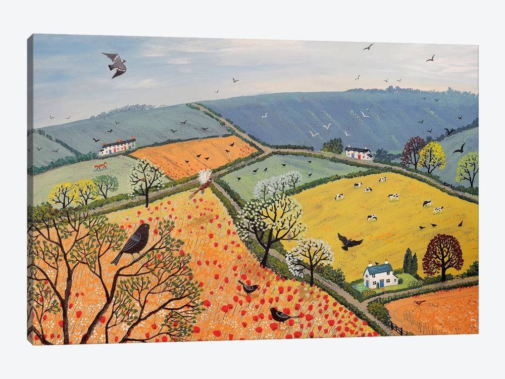 The View From Poppy Hill by Jo Grundy 1-piece Canvas Wall Art