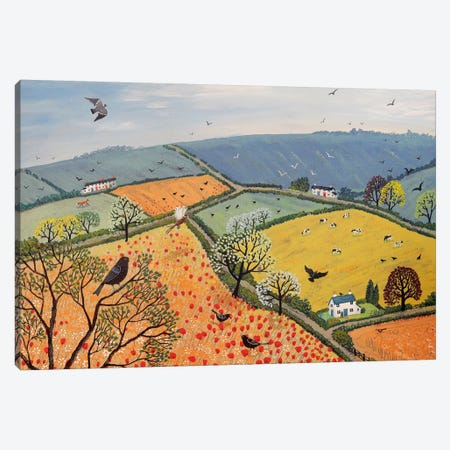 The View From Poppy Hill Canvas Print #JOG18} by Jo Grundy Canvas Wall Art