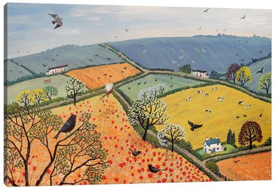 The View From Poppy Hill Canvas Art Print