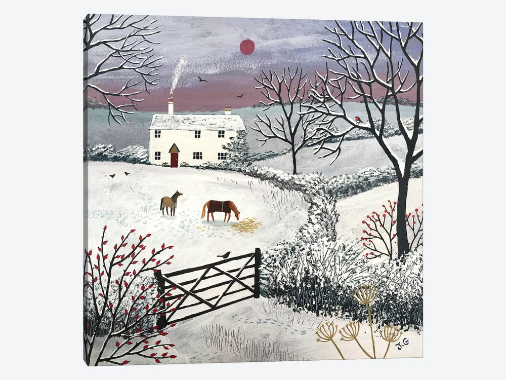 Winter Grazing by Jo Grundy 1-piece Art Print
