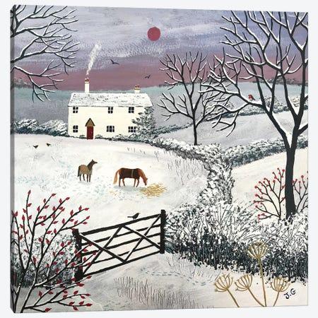 Winter Grazing Canvas Print #JOG19} by Jo Grundy Canvas Wall Art