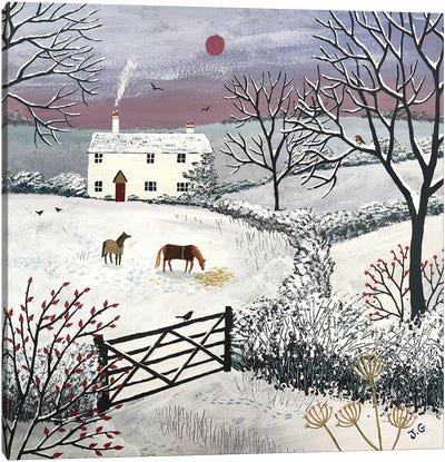 Winter Grazing Canvas Art Print