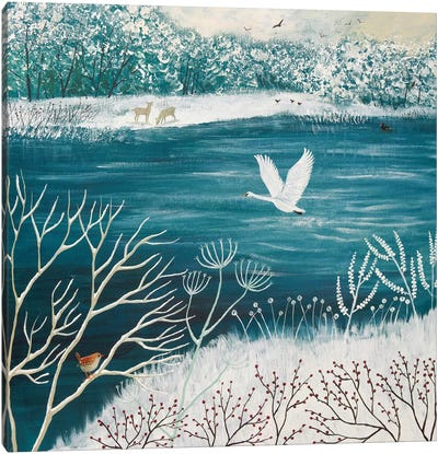 Across Winter Lake Canvas Print #JOG1