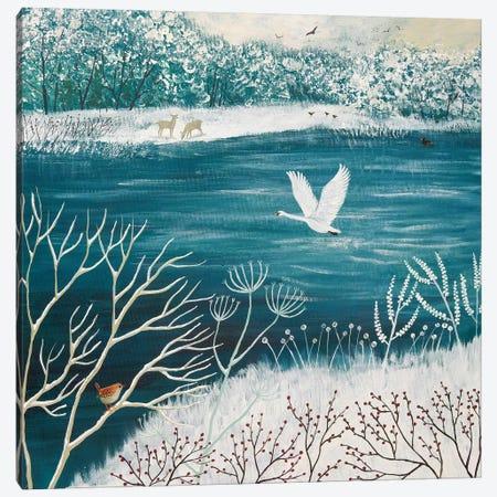 Across Winter Lake Canvas Print #JOG1} by Jo Grundy Canvas Art Print