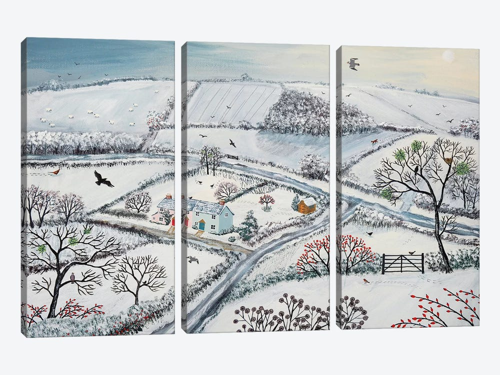 Winter Hills by Jo Grundy 3-piece Canvas Art Print