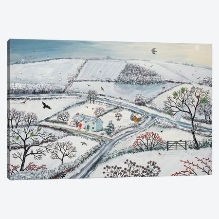 Winter Hills Canvas Print #JOG20} by Jo Grundy Canvas Art Print