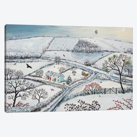 Winter Hills Canvas Print #JOG20} by Jo Grundy Canvas Art Print