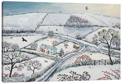 Winter Hills Canvas Art Print