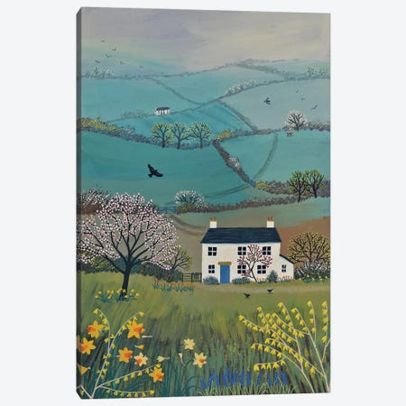 Across Spring Hills Canvas Print #JOG22} by Jo Grundy Art Print