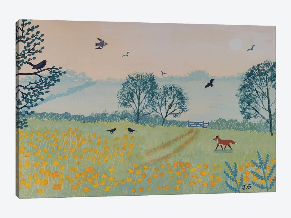 Buttercup Dawn by Jo Grundy 1-piece Canvas Artwork