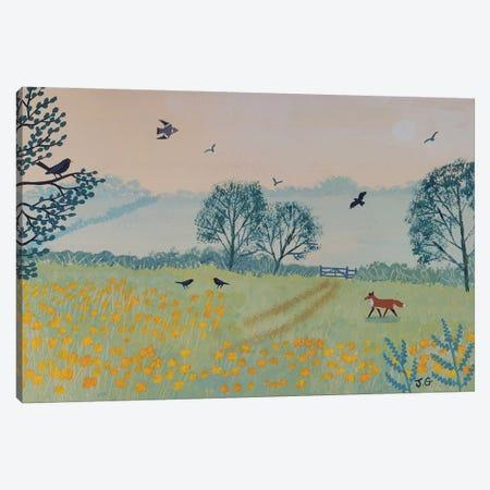 Buttercup Dawn Canvas Print #JOG23} by Jo Grundy Canvas Art Print