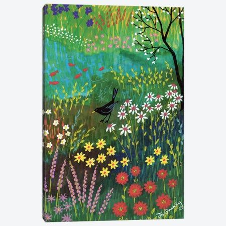 By Summer Pond Canvas Print #JOG24} by Jo Grundy Canvas Wall Art