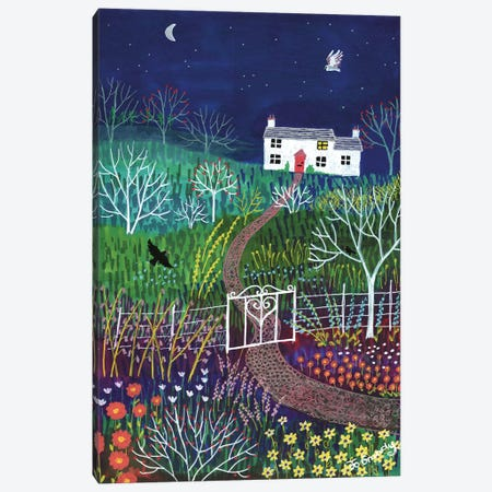 Moonlight Garden Canvas Print #JOG25} by Jo Grundy Canvas Artwork