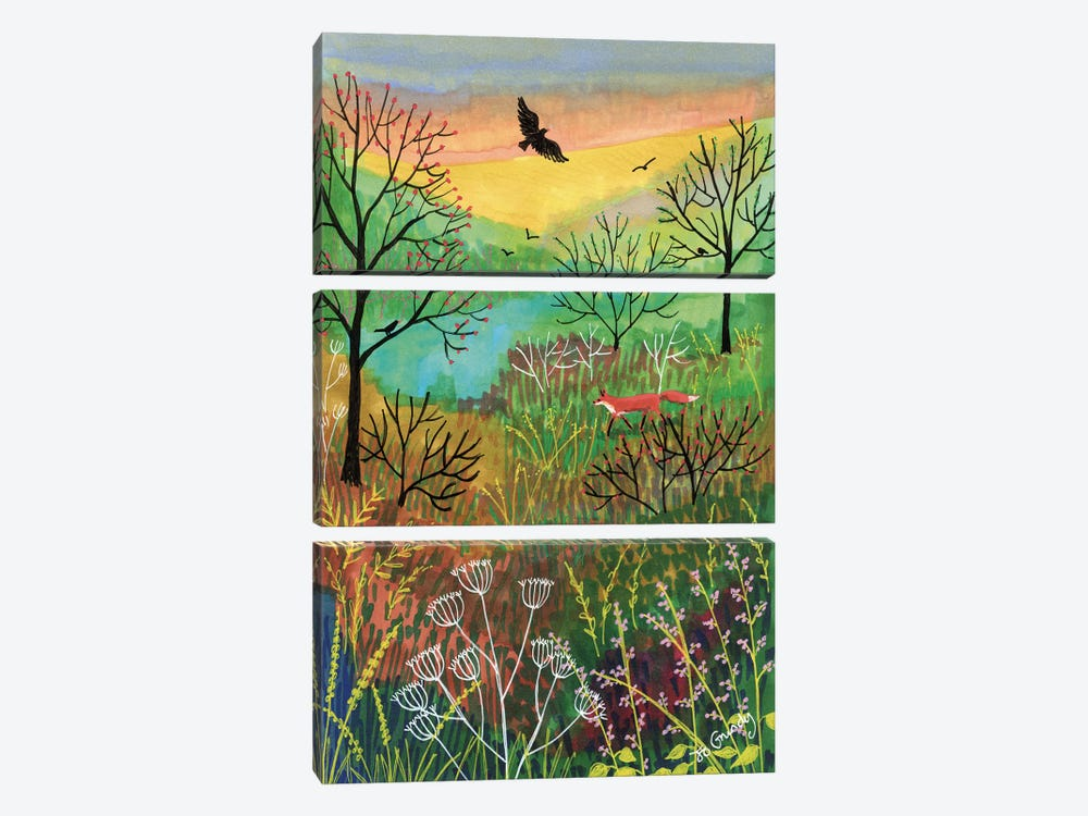 Off The Beaten Track by Jo Grundy 3-piece Canvas Print
