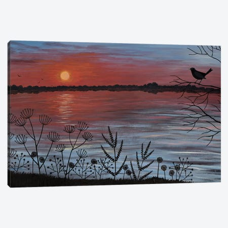 Scarlet Lake Canvas Print #JOG27} by Jo Grundy Canvas Art