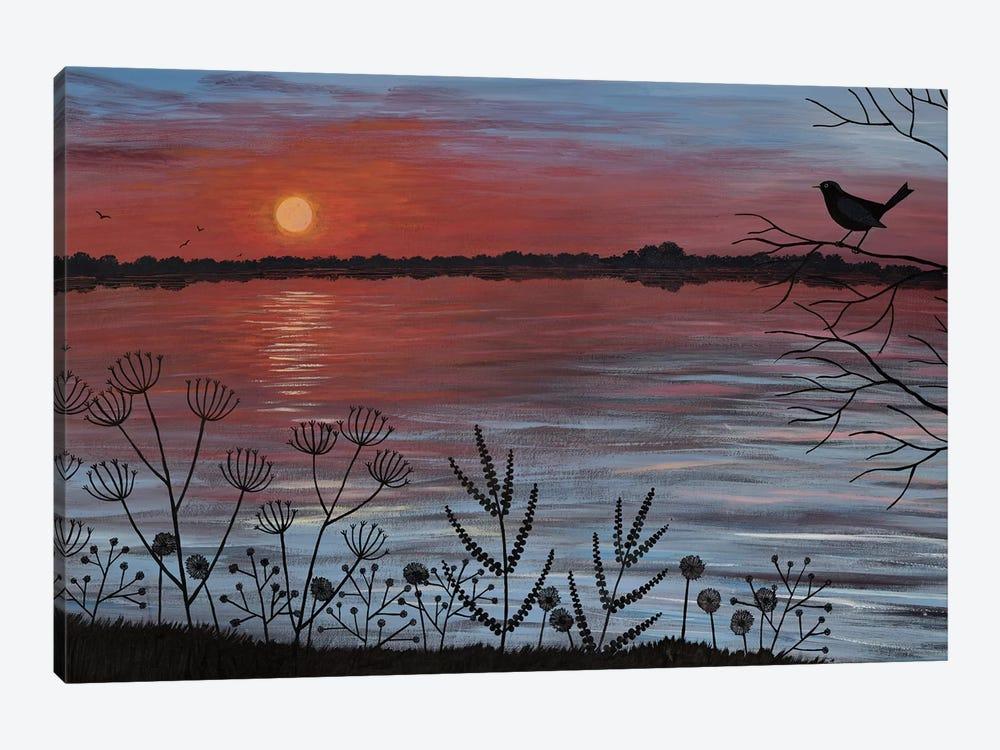 Scarlet Lake by Jo Grundy 1-piece Canvas Wall Art