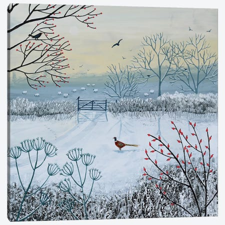 Snowy Morning Canvas Print #JOG28} by Jo Grundy Art Print