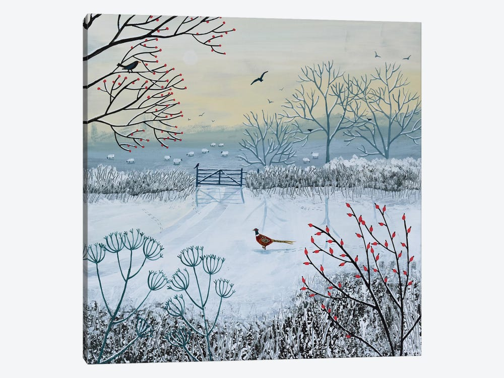 Snowy Morning by Jo Grundy 1-piece Canvas Art Print