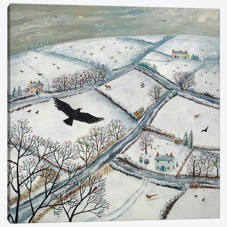 As The Crow Flies Canvas Print #JOG2} by Jo Grundy Art Print