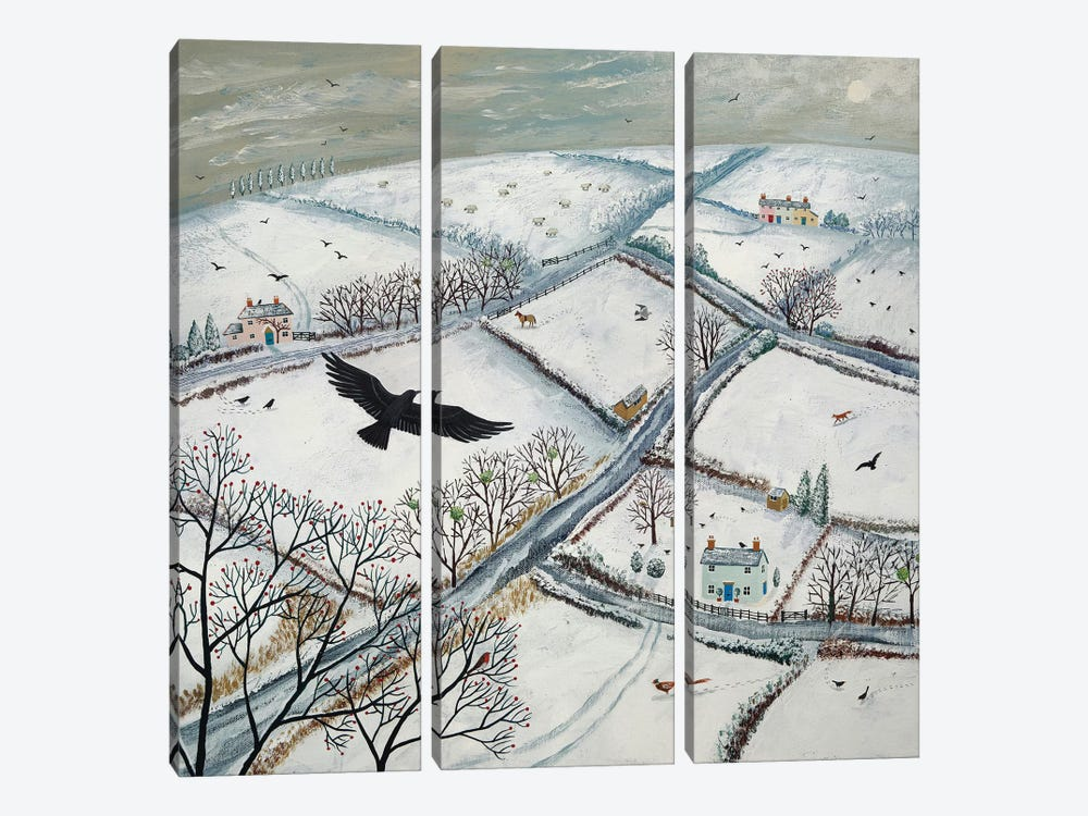 As The Crow Flies by Jo Grundy 3-piece Canvas Art Print
