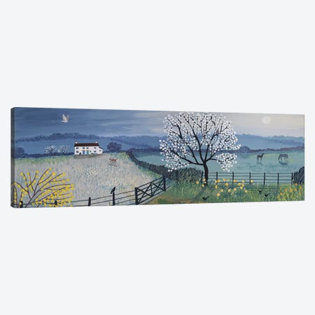 Spring Moon Canvas Print #JOG30} by Jo Grundy Canvas Artwork